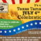 Celebrate the  Fourth of July with Fun Food!!  Texas Tamales Order by 7/1 & Get a Freebie!!  Celeb Fave Sweet Treats!