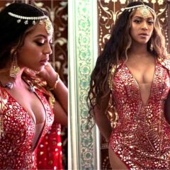 Beyonce  Performs in India in Gorgeous Gown by Khosla Jani!!  Check Out Her Look!